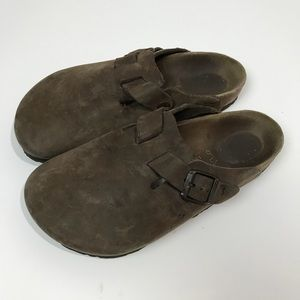 Birkenstock Boston Brown Leather close Toe L7M5